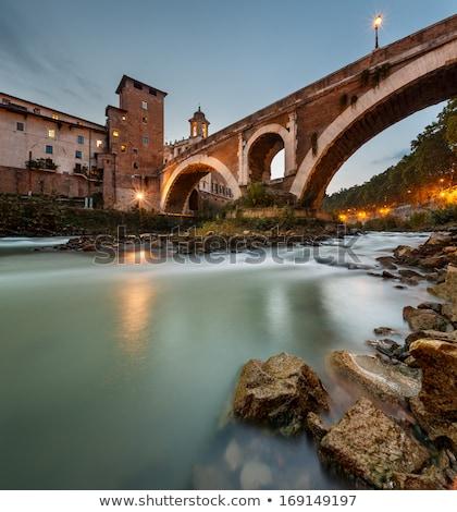 Fabricius Bridge on the river Tiber in Rome, Stock photo © Zhukow