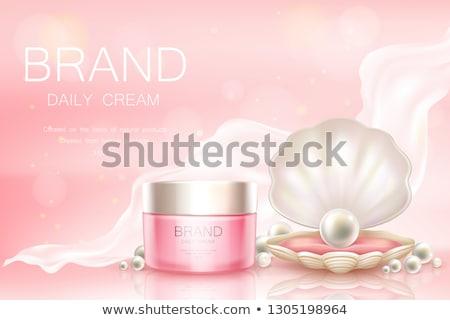 Perle Tag Gesichtscreme Haut Feuchtigkeitscreme Luxus Stock foto © Anneleven