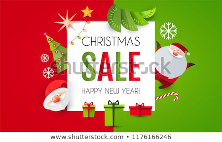 Christmas Sale Xmas Clearance Promotional Poster Stock photo © robuart