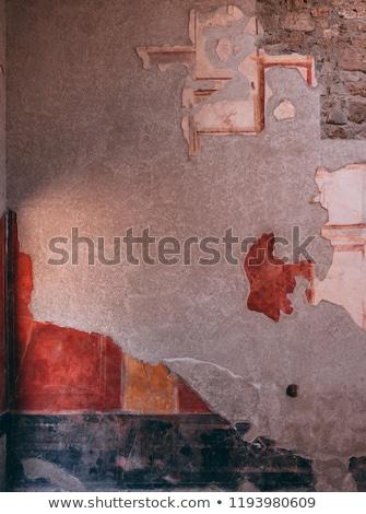 древних фреска руин Италия здании город Сток-фото © feverpitch