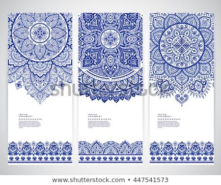 Indiai henna stílus virágmintás dekoráció terv Stock fotó © SArts
