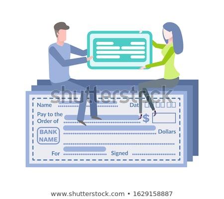 Pagamento cartão azul vazio conta vetor Foto stock © robuart