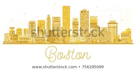 Бостон силуэта простой туризма Сток-фото © ShustrikS