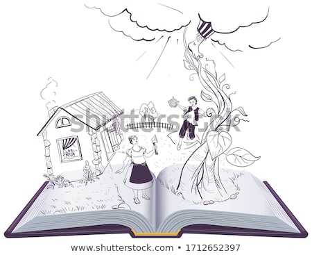 Offenes Buch Illustration Englisch Märchen Vektor isoliert Stock foto © orensila