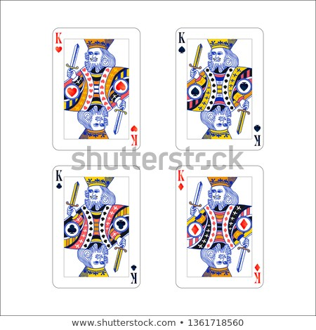 Set of king playing card with different suits like diamonds, clubs, hearts and spades isolated on wh Stock photo © evgeny89