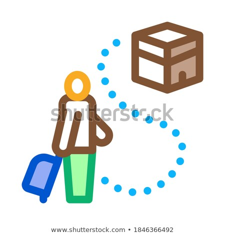 traveler way to kaaba temple icon vector outline illustration Stock photo © pikepicture