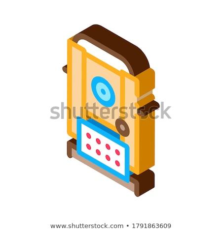 Topografia badań narzędzie izometryczny ikona wektora Zdjęcia stock © pikepicture