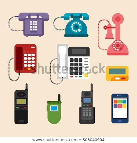Various colors old telephones set Stock photo © sanjanovakovic