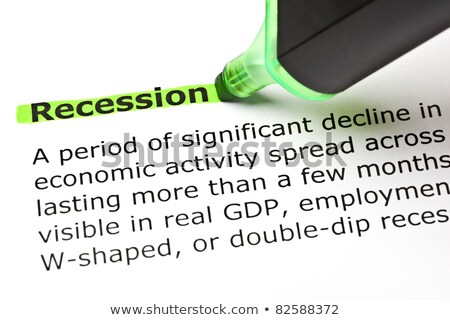 'Recession' highlighted in green Stock photo © ivelin