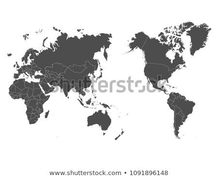 WORLD black background Middle East, Africa and India Stock photo © fenton