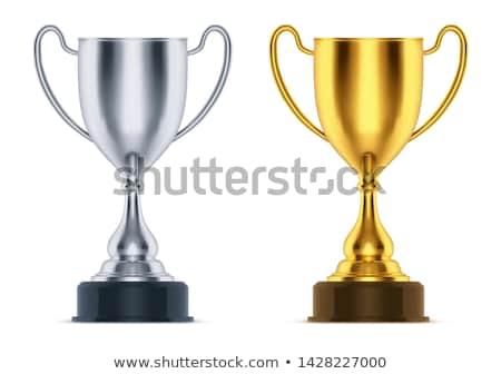 glanzend · gouden · trofee · beker · realistisch · vector - stockfoto © kovacevic