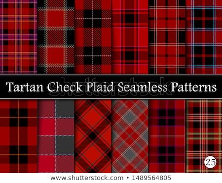 Set plaid patterns, tartan, fabric textile Stock photo © Ecelop