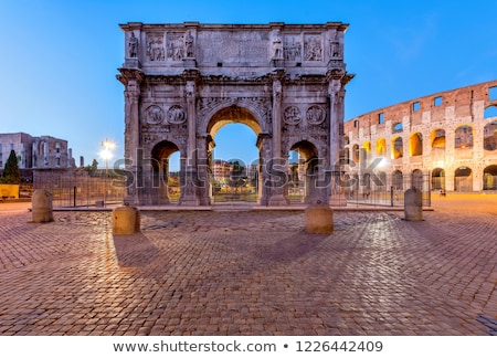 colosseum and constantines arch stock photo © francesco83