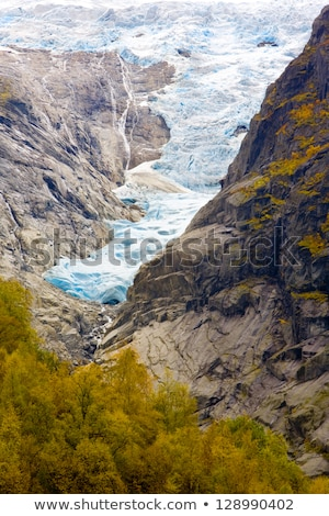 landscape near Melkevollbreen Glacier, Jostedalsbreen National P Stock photo © phbcz