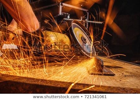 Mechani sawing metal Stock photo © pongam