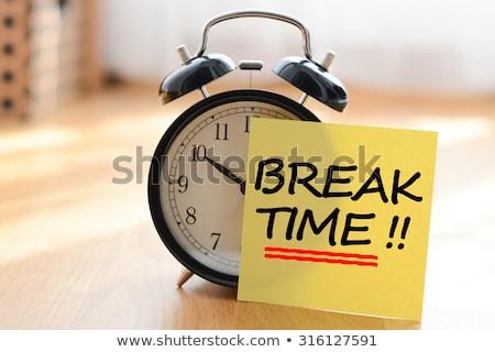 tiempo · romper · escrito · tiza · pizarra · fondo - foto stock © bbbar
