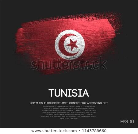 Grunge bandeira Tunísia velho vintage textura do grunge Foto stock © HypnoCreative