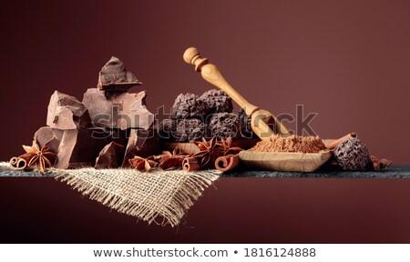 Közelkép aprított csokoládé fahéj ánizs extrém Stock fotó © elly_l