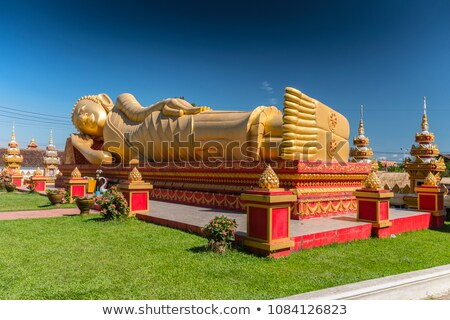 Pots in Reclining Buddha Temple Stock photo © PetrMalyshev