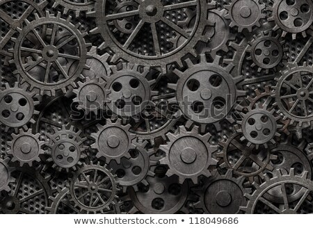 Velho enferrujado metal engrenagens engrenagem Foto stock © njnightsky