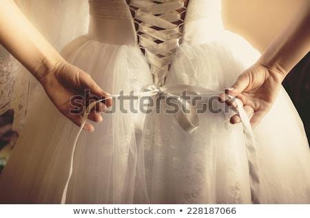 弓 ウェディングドレス 結婚式 花嫁 白 ストックフォト © leeavison
