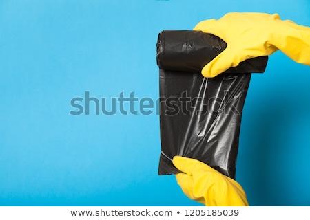 siyah · çöp · çanta · atık · arka · plan · temizlik - stok fotoğraf © ozaiachin