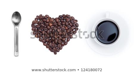 Stock photo: Heart shape made of beans
