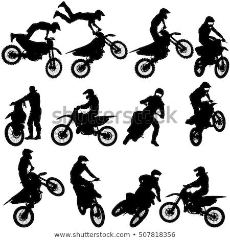 Motocross silhouettes set Stock photo © Kaludov