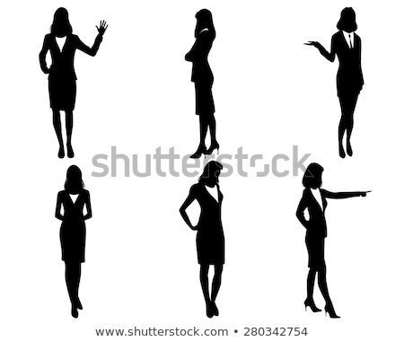 Woman pointing to briefcase Stock photo © photography33