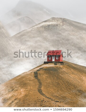 Red Cabin in Woods Stock photo © ildi