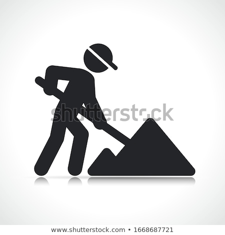Construction worker with a shovel Stock photo © photography33
