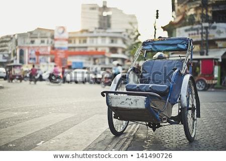 Customer on cyclo in Phnom Penh Stock photo © backyardproductions