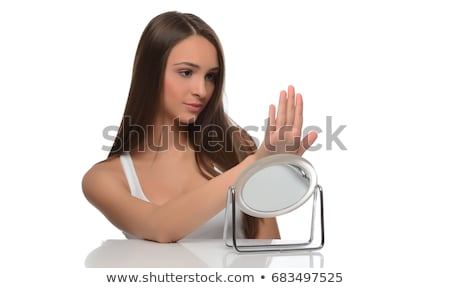 doing her nails Stock photo © jayfish