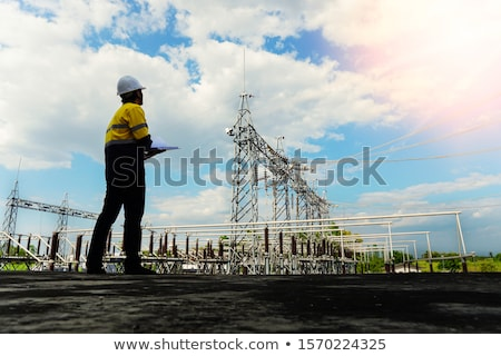 Engineer verifying a drawing Stock photo © photography33