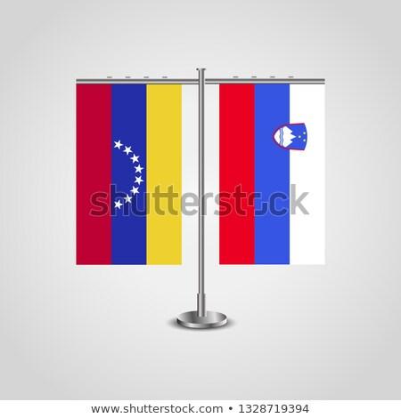 Minyatür bayrak Slovenya yalıtılmış iş Stok fotoğraf © bosphorus