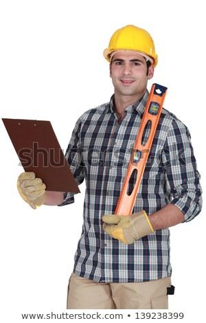 работник дух уровень буфер обмена рук Сток-фото © photography33