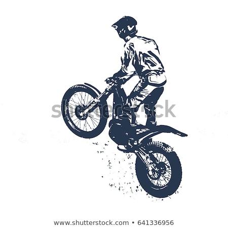 Bike trial Stock photo © adrenalina