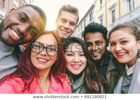 group of smiling young students stock photo © get4net
