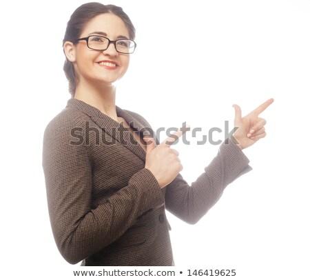 Stock fotó: Portré · mosolyog · irodai · dolgozó · fehér · kéz · boldog