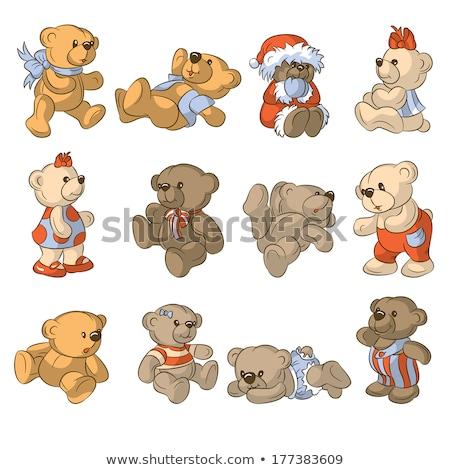 képregény · rajz · aranyos · jegesmedve · retro · képregény - stock fotó © genestro