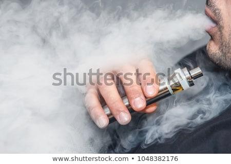 Elektronikus cigaretta fekete nikotin Stock fotó © nessokv