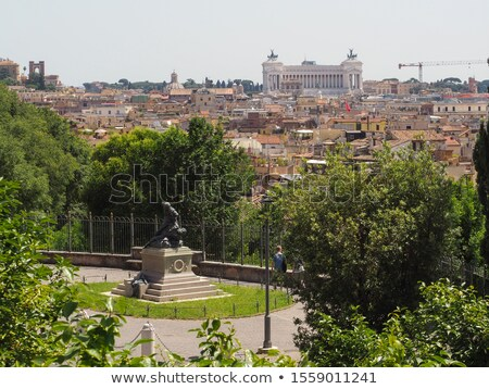 Monument to Cairoli brothers Rome Italy Stock photo © backyardproductions