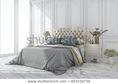 bright luxurious bed design stock photo © tommyandone