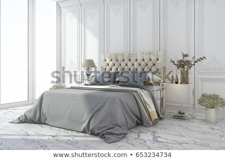 lusso · camera · da · letto · design · frame · relax · mobili - foto d'archivio © tommyandone