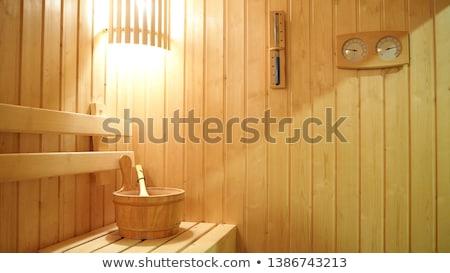 Thermometer sauna vochtigheid instrument hout Stockfoto © Alenmax