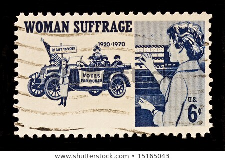 women's suffrage movement, USA postage stamp Stock photo © Snapshot