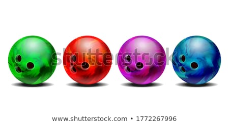 Colorful bowling balls stock photo © franky242