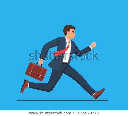 Homme dépêchez cartoon image couleur livre Photo stock © cteconsulting