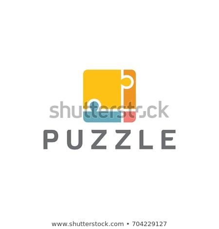 Stock photo: Logo puzzle