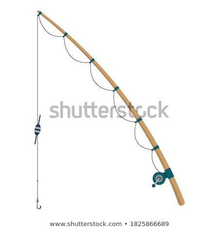 Hengel vissen schets krijt Engels clip art Stockfoto © zzve